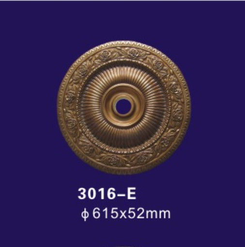 Bronze Color Decorative Ceiling Cover Plate , Polyurethane Ceiling Rose For Home Deco