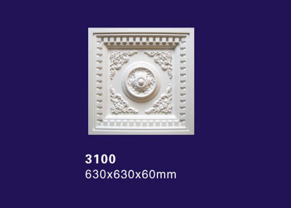 Square / Rectangular Design 	Polyurethane Ceiling Medallion / Lamp Medallion For Ceilings