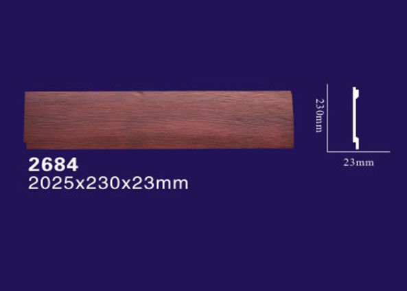Light Weight Polyurethane Faux Beams , Wood Color Decorative Fake Ceiling Beams