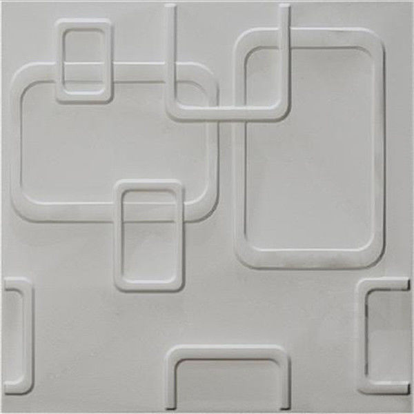 Decorative 3D PVC Wall Panels / Vinyl 3D Wall Board Texture With Attractive Appearance