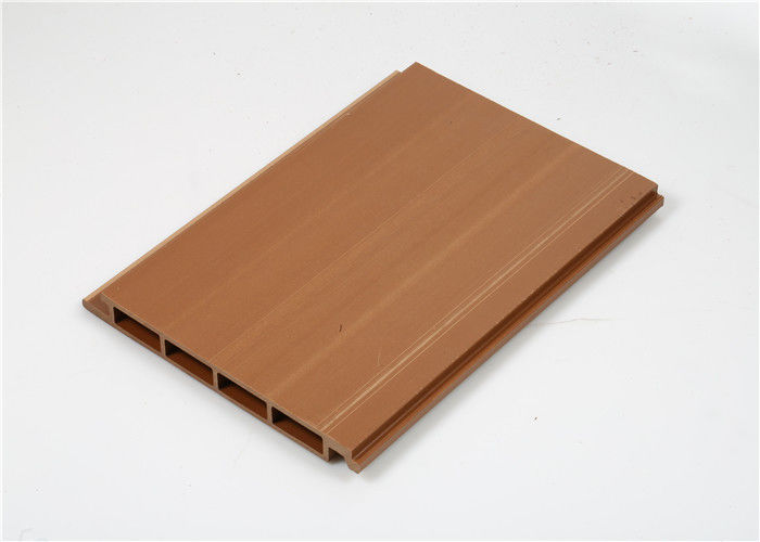 Low Maintenance Composite Wall Cladding Panels Wood Grain Waterproof